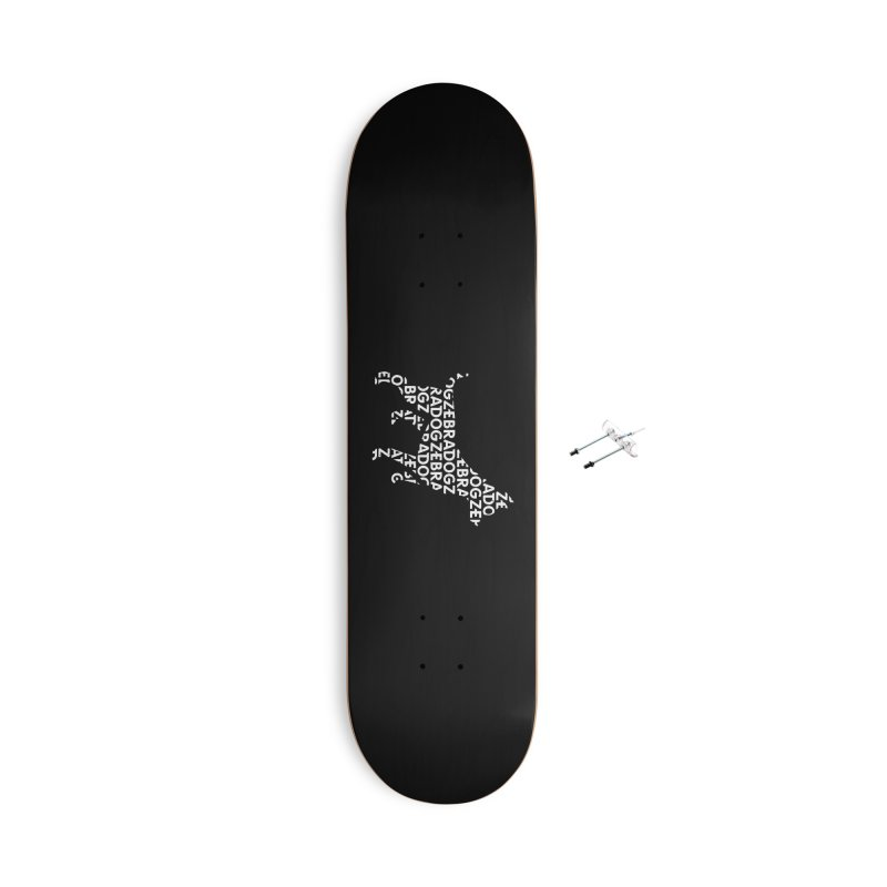 Alphabet Zoup White Accessories With Hanging Hardware Skateboard by Zebradog Apparel & Accessories