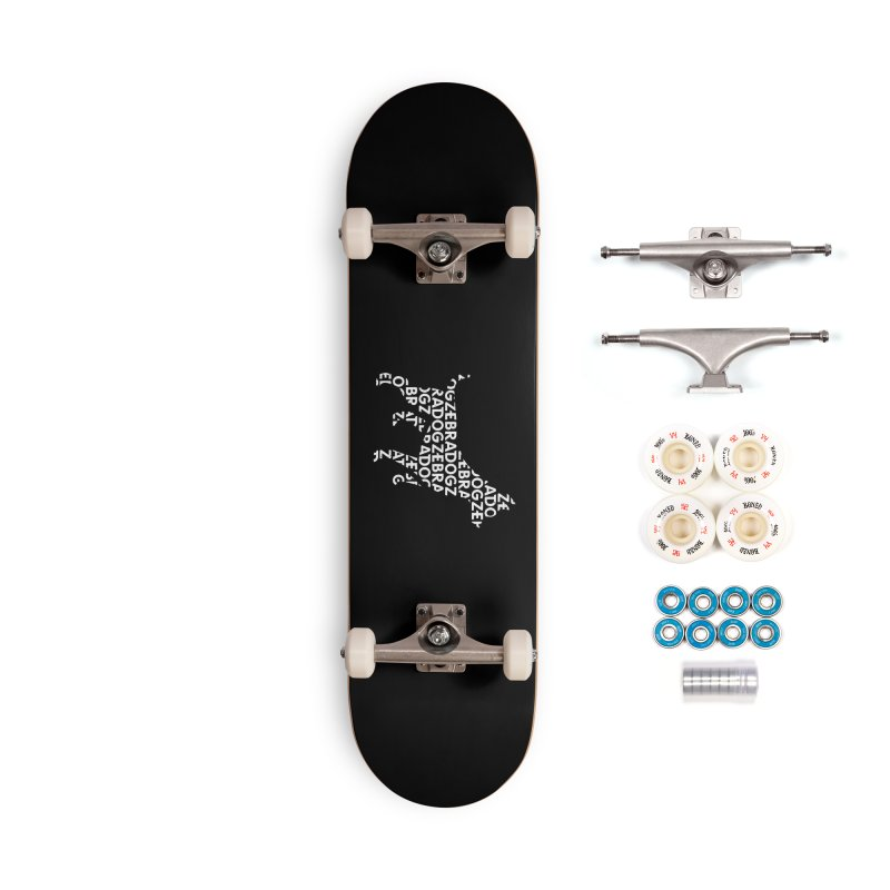 Alphabet Zoup White Accessories Complete - Premium Skateboard by Zebradog Apparel & Accessories