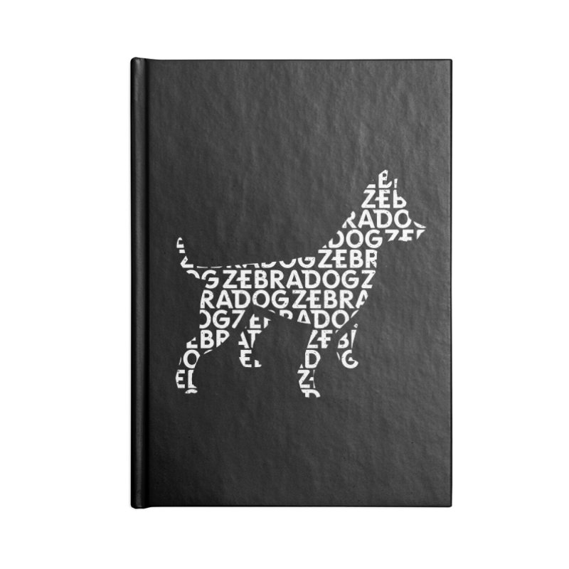 Alphabet Zoup White Accessories Blank Journal Notebook by Zebradog Apparel & Accessories