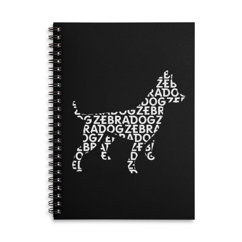 Alphabet Zoup White Accessories Lined Spiral Notebook by Zebradog Apparel & Accessories