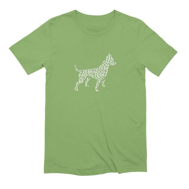 Alphabet Zoup White Men's Extra Soft T-Shirt by Zebradog Apparel & Accessories
