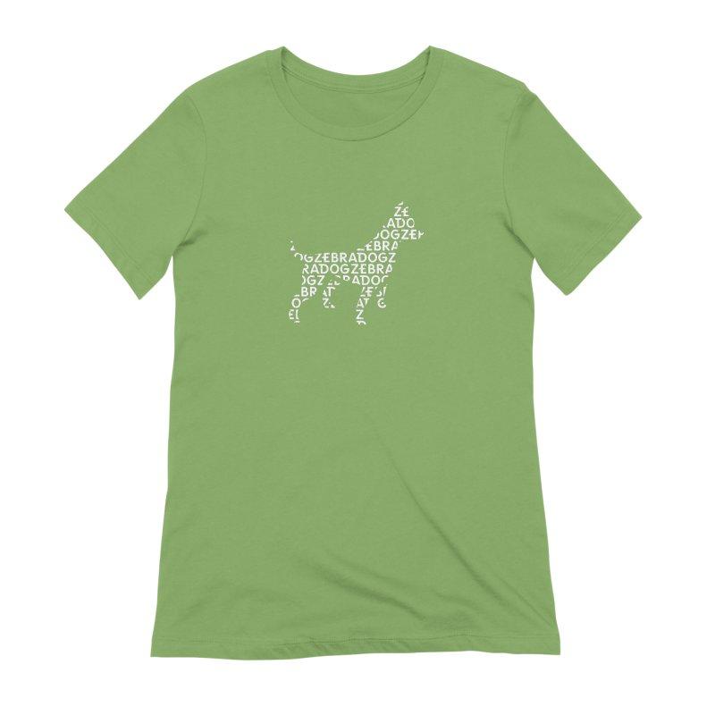 Alphabet Zoup White Women's Extra Soft T-Shirt by Zebradog Apparel & Accessories