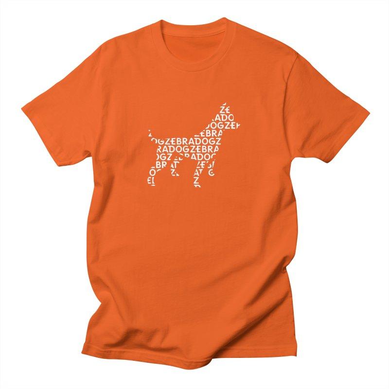 Alphabet Zoup White Men's T-Shirt by Zebradog Apparel & Accessories