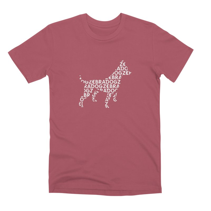 Alphabet Zoup White Men's Premium T-Shirt by Zebradog Apparel & Accessories