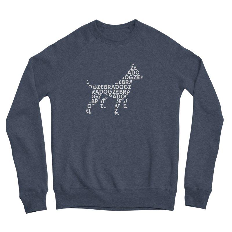 Alphabet Zoup White Men's Sponge Fleece Sweatshirt by Zebradog Apparel & Accessories
