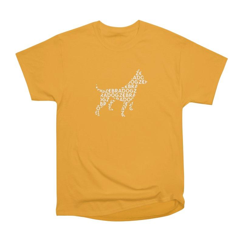 Alphabet Zoup White Women's Heavyweight Unisex T-Shirt by Zebradog Apparel & Accessories