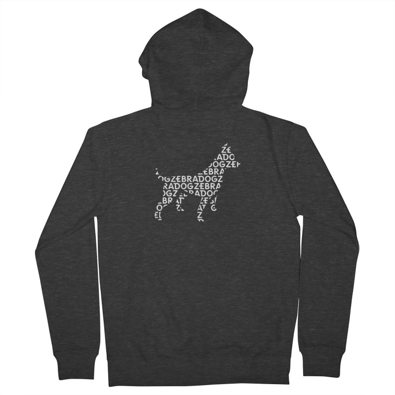 Alphabet Zoup White Men's Zip-Up Hoody by Zebradog Apparel & Accessories