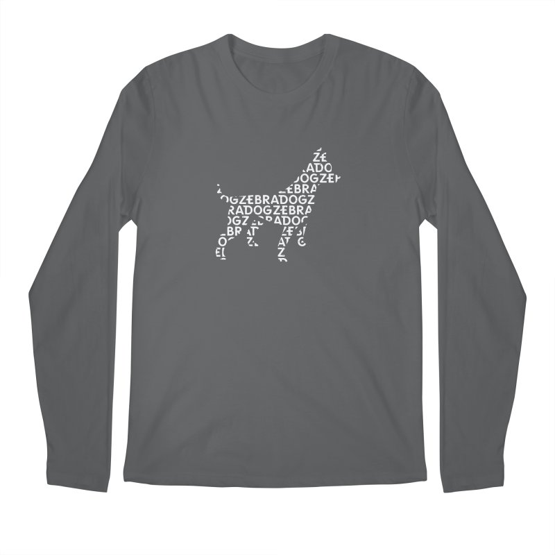 Alphabet Zoup White Men's Regular Longsleeve T-Shirt by Zebradog Apparel & Accessories