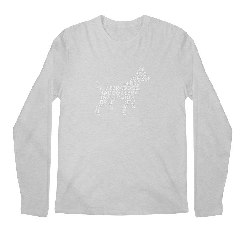 Alphabet Zoup White Men's Longsleeve T-Shirt by Zebradog Apparel & Accessories