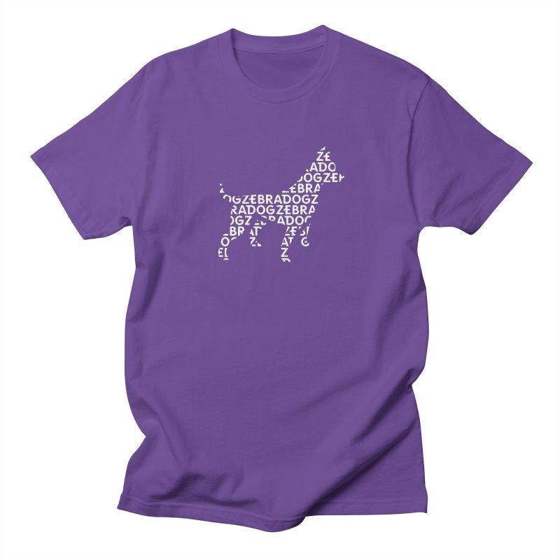 Alphabet Zoup White Women's Regular Unisex T-Shirt by Zebradog Apparel & Accessories