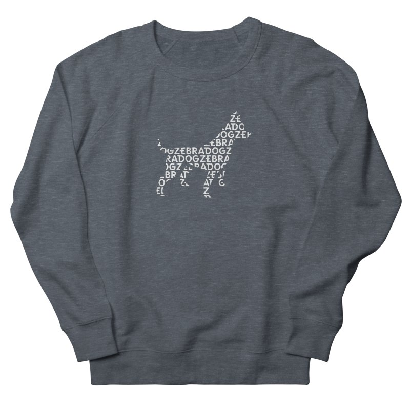 Alphabet Zoup White Men's French Terry Sweatshirt by Zebradog Apparel & Accessories