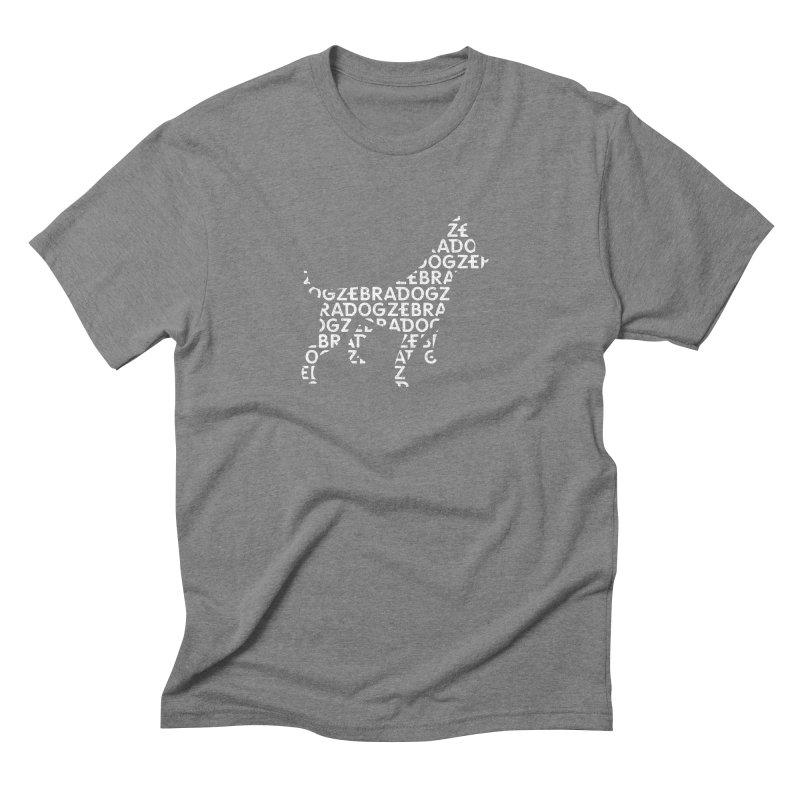 Alphabet Zoup White Men's Triblend T-Shirt by Zebradog Apparel & Accessories