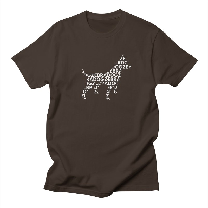 Alphabet Zoup White Men's Regular T-Shirt by Zebradog Apparel & Accessories