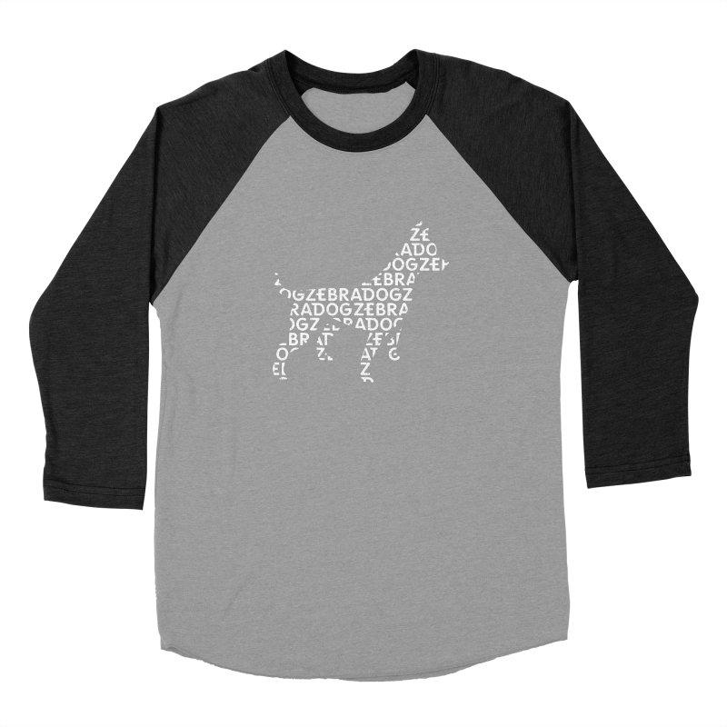 Alphabet Zoup White Women's Baseball Triblend Longsleeve T-Shirt by Zebradog Apparel & Accessories