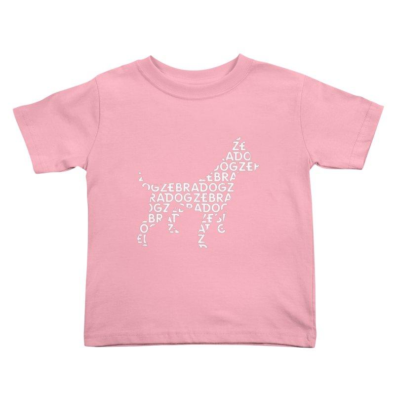 Alphabet Zoup White Kids Toddler T-Shirt by Zebradog Apparel & Accessories