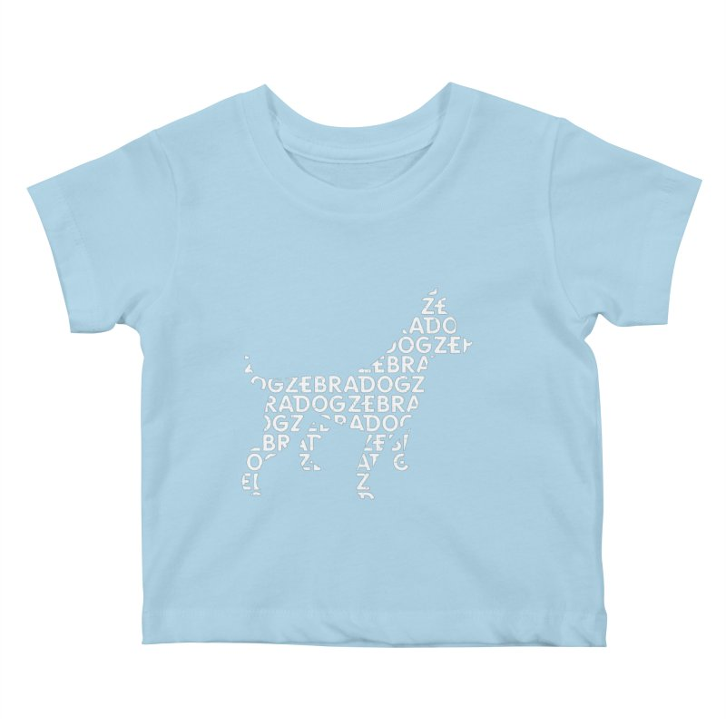 Alphabet Zoup White Kids Baby T-Shirt by Zebradog Apparel & Accessories