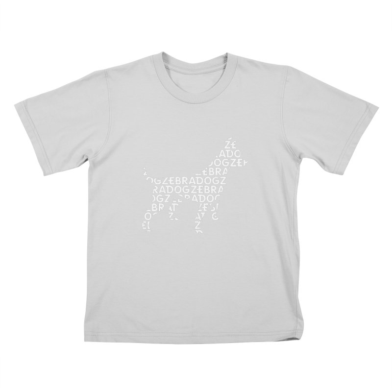 Alphabet Zoup White Kids T-Shirt by Zebradog Apparel & Accessories