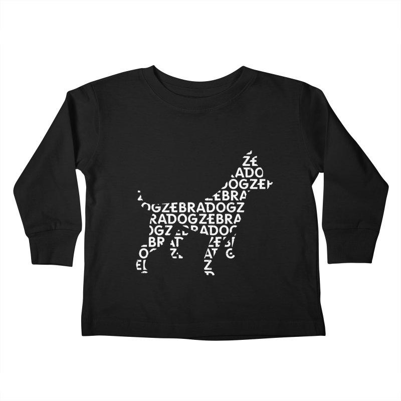 Alphabet Zoup White Kids Toddler Longsleeve T-Shirt by Zebradog Apparel & Accessories