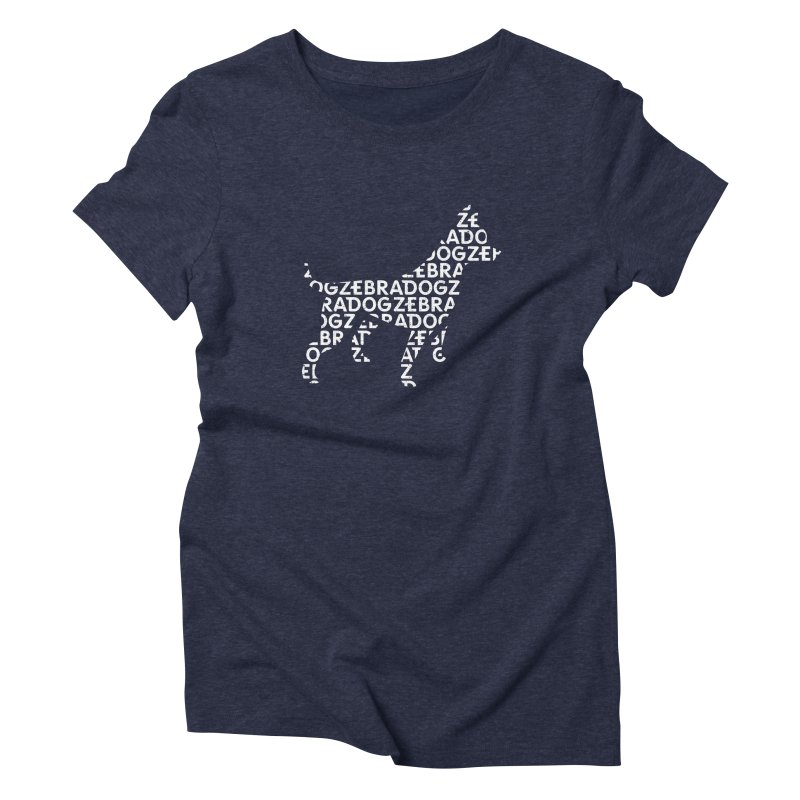 Alphabet Zoup White Women's Triblend T-Shirt by Zebradog Apparel & Accessories