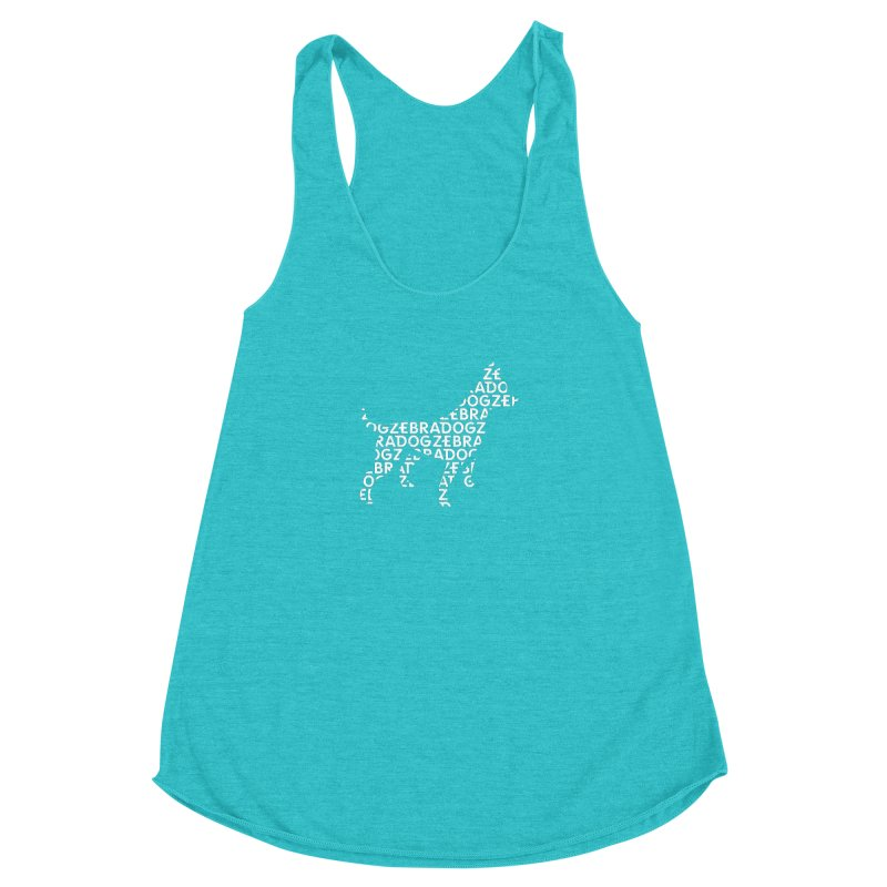 Alphabet Zoup White Women's Racerback Triblend Tank by Zebradog Apparel & Accessories