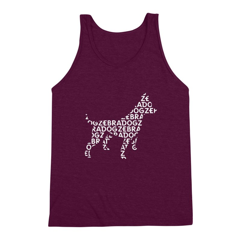 Alphabet Zoup White Men's Triblend Tank by Zebradog Apparel & Accessories
