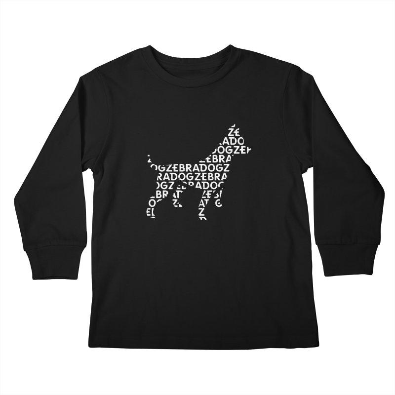 Alphabet Zoup White Kids Longsleeve T-Shirt by Zebradog Apparel & Accessories