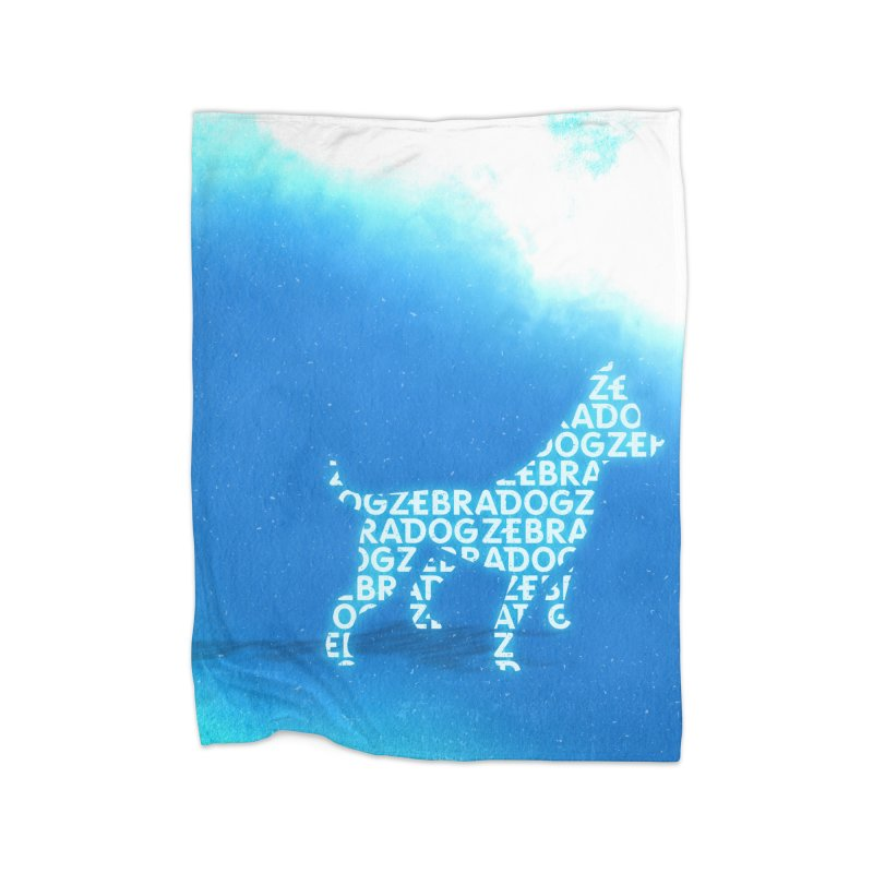 Blu ZDream Home Fleece Blanket Blanket by Zebradog Apparel & Accessories