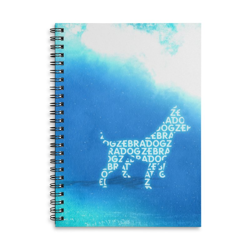 Blu ZDream Accessories Lined Spiral Notebook by Zebradog Apparel & Accessories