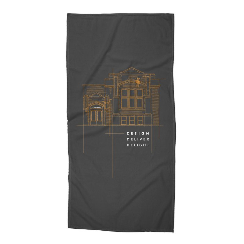 6th Ward Library Accessories Beach Towel by Zebradog Apparel & Accessories