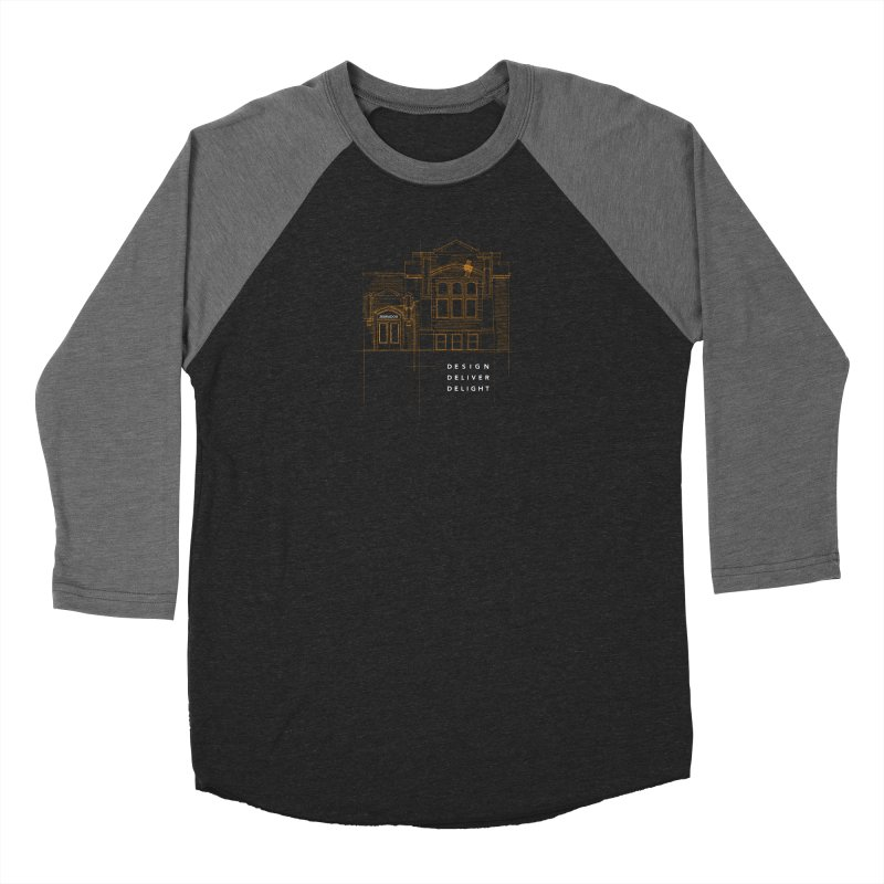 6th Ward Library Women's Baseball Triblend Longsleeve T-Shirt by Zebradog Apparel & Accessories