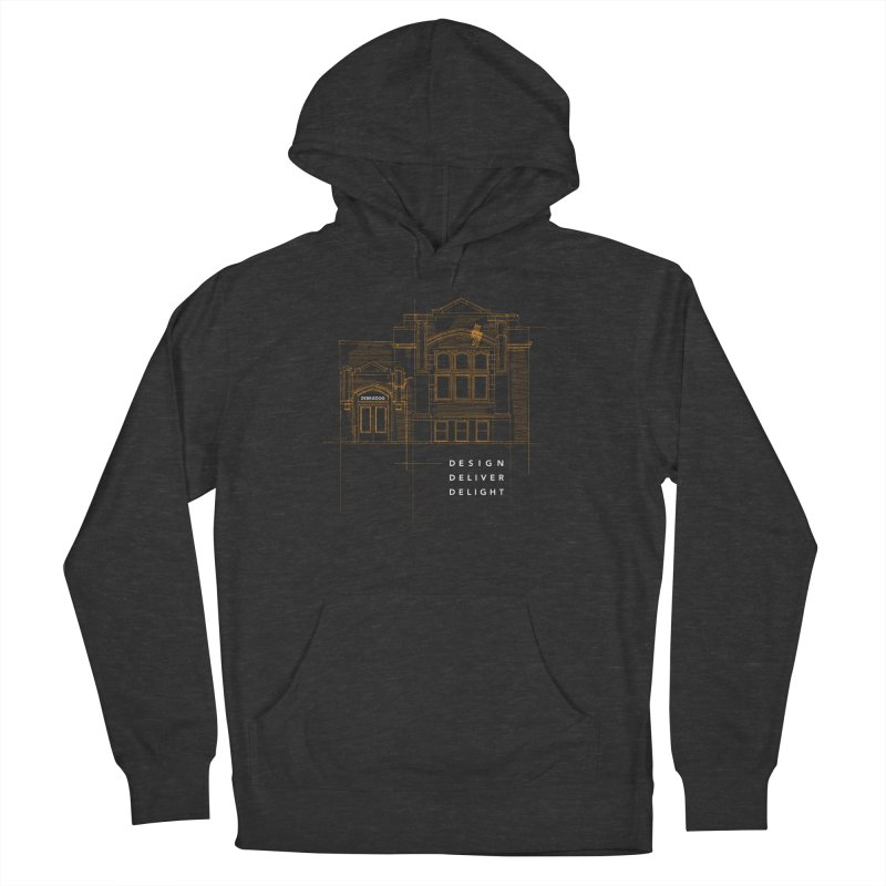 6th Ward Library Men's French Terry Pullover Hoody by Zebradog Apparel & Accessories