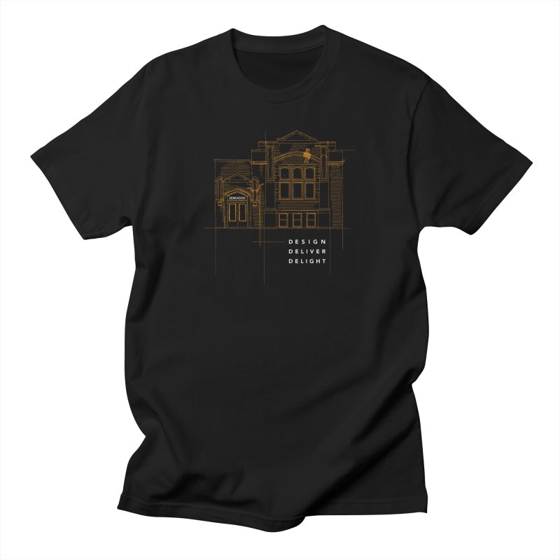 6th Ward Library Women's Regular Unisex T-Shirt by Zebradog Apparel & Accessories