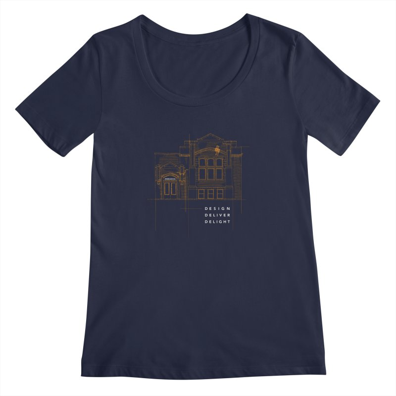 6th Ward Library Women's Regular Scoop Neck by Zebradog Apparel & Accessories