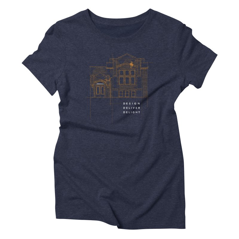6th Ward Library Women's T-Shirt by Zebradog Apparel & Accessories