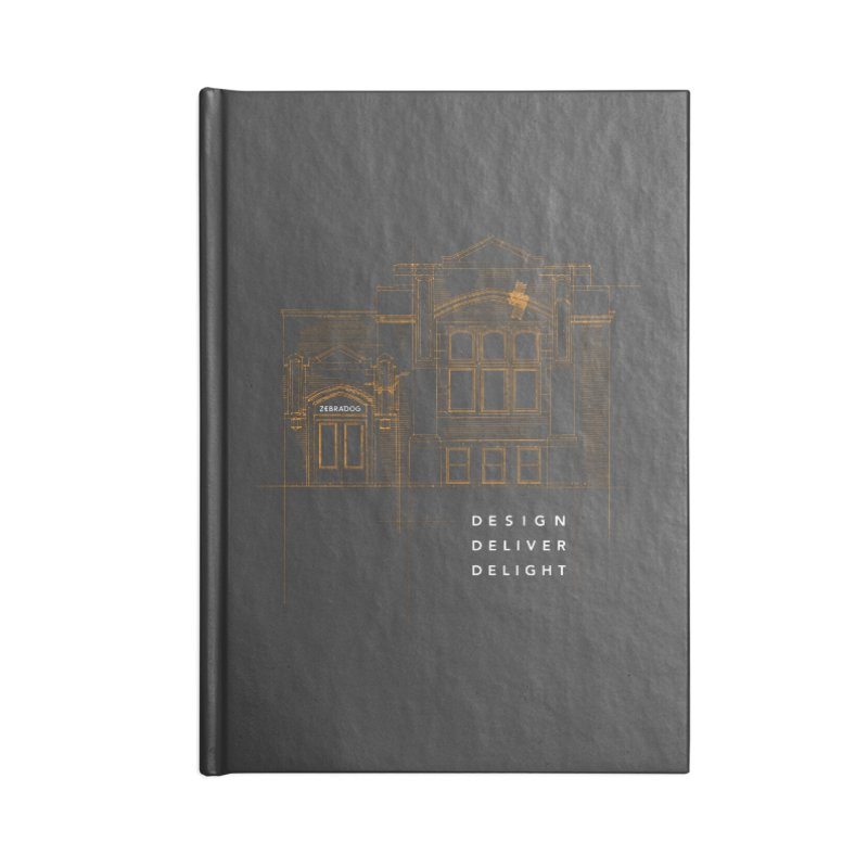 6th Ward Library Accessories Blank Journal Notebook by Zebradog Apparel & Accessories