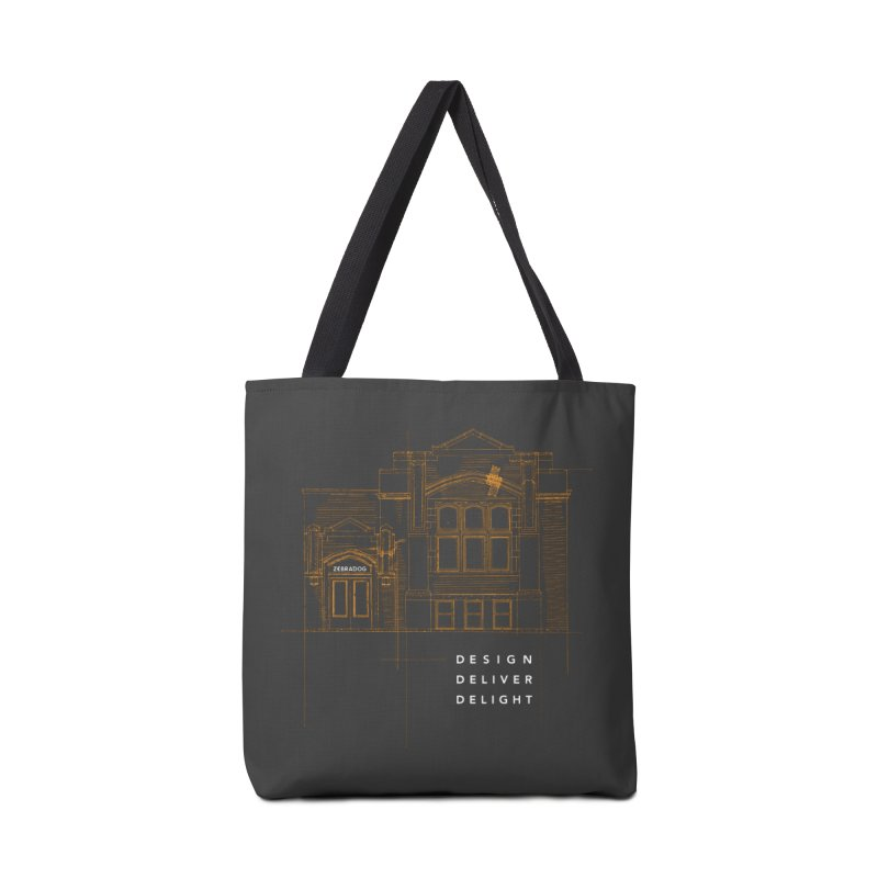 6th Ward Library Accessories Tote Bag Bag by Zebradog Apparel & Accessories