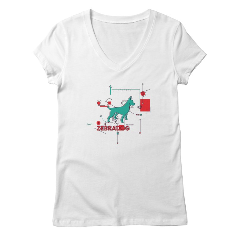 Process Women's V-Neck by Zebradog Apparel & Accessories