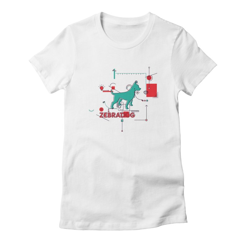 Process Women's Fitted T-Shirt by Zebradog Apparel & Accessories