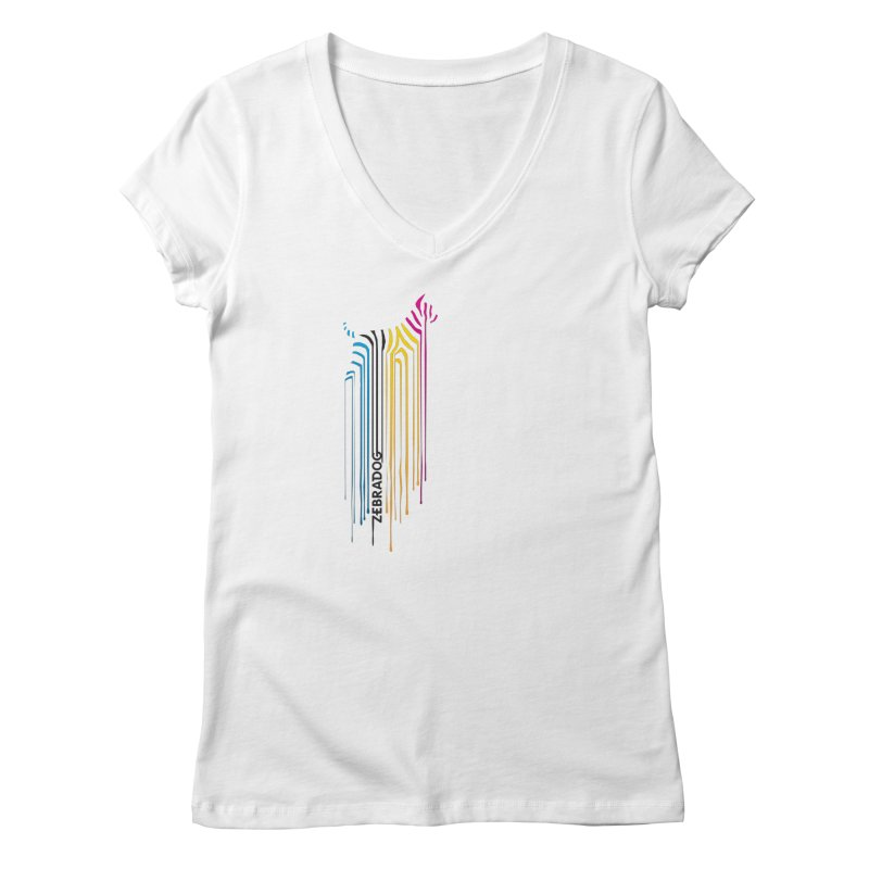 DripDog Women's V-Neck by Zebradog Apparel & Accessories