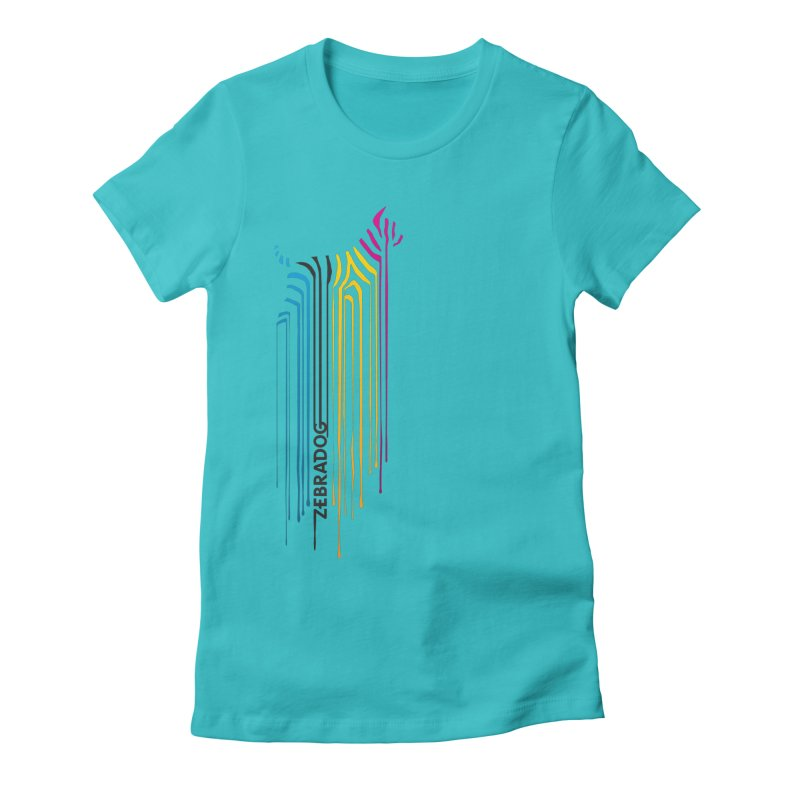 DripDog Women's Fitted T-Shirt by Zebradog Apparel & Accessories