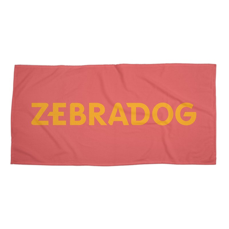 Orange Crush Accessories Beach Towel by Zebradog Apparel & Accessories