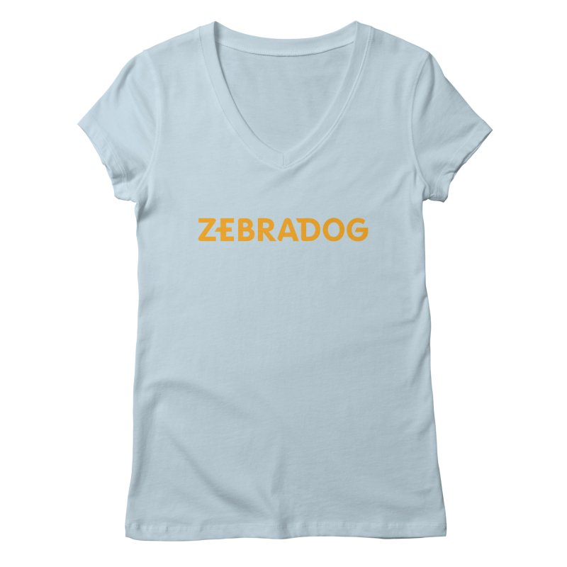 Orange Crush Women's Regular V-Neck by Zebradog Apparel & Accessories