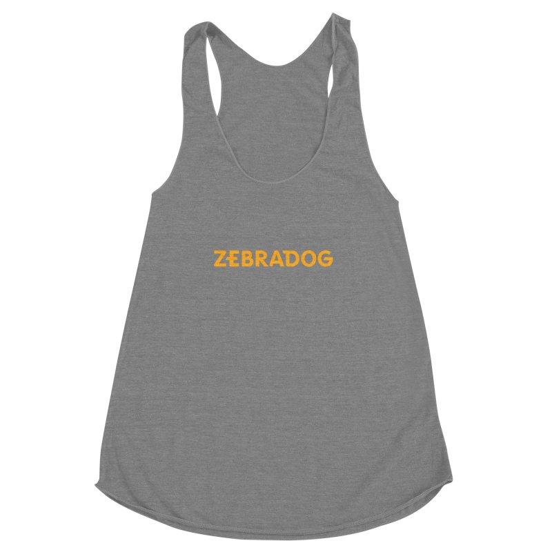 Orange Crush Women's Racerback Triblend Tank by Zebradog Apparel & Accessories