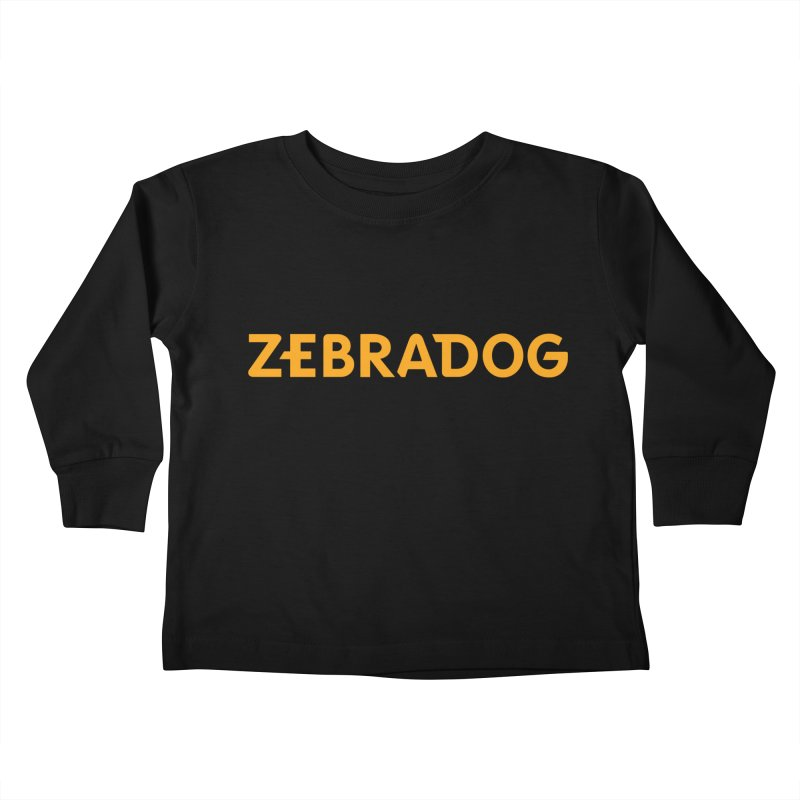 Orange Crush Kids Toddler Longsleeve T-Shirt by Zebradog Apparel & Accessories