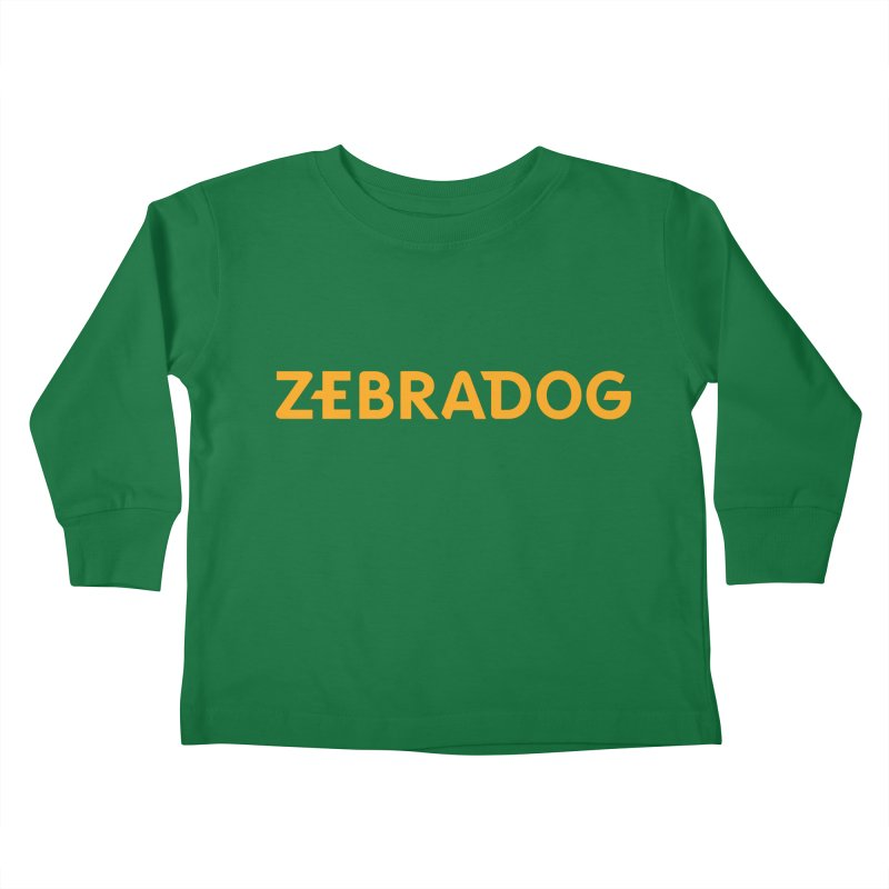Orange Crush Kids Toddler Longsleeve T-Shirt by Zebradog Apparel & Accessories