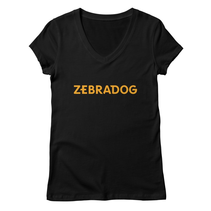 Orange Crush Women's V-Neck by Zebradog Apparel & Accessories