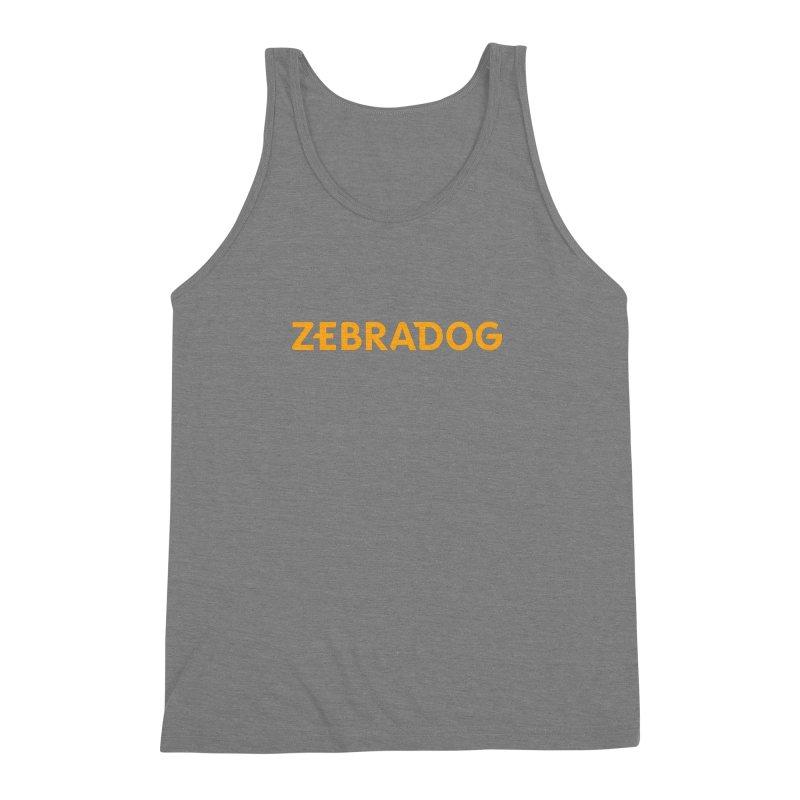Orange Crush Men's Triblend Tank by Zebradog Apparel & Accessories