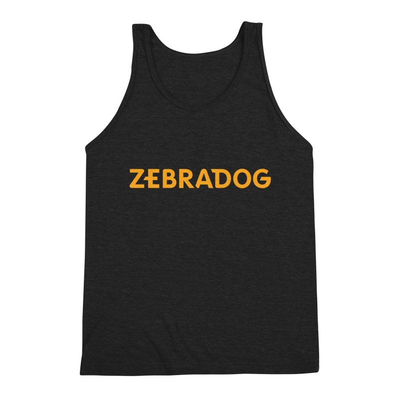 Orange Crush Men's Triblend Tank by Zebradog Apparel & Accessories