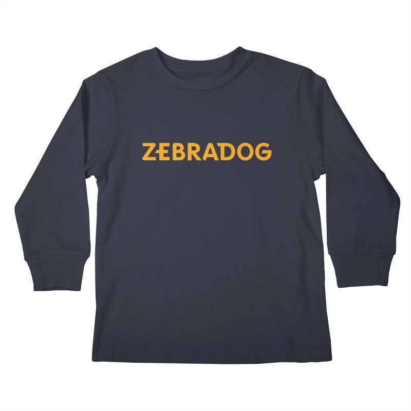 Orange Crush Kids Longsleeve T-Shirt by Zebradog Apparel & Accessories