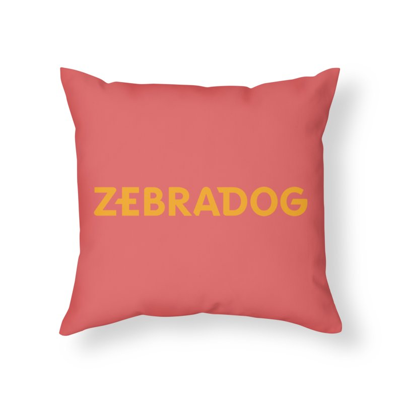 Orange Crush Home Throw Pillow by Zebradog Apparel & Accessories